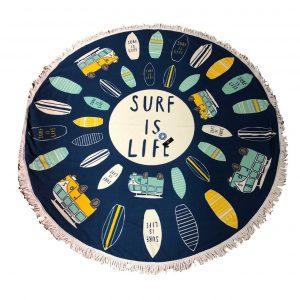 Toalla circular surf jovial