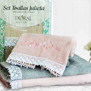 Set Toallas Julieta, toallas de baño y manos