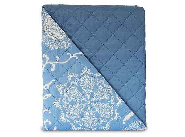 quilt microfibra 2plaza marca andes azul 2