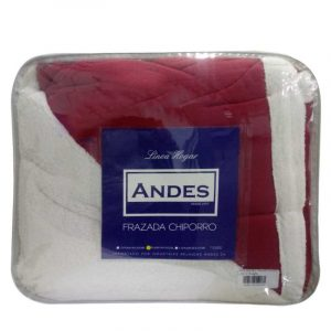 Frazadas de Polar con Chiporro Liso de 2 plaza – Andes.